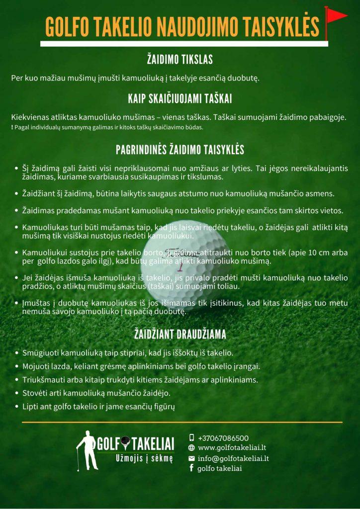 golfo-takeliai-taisykles